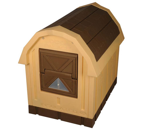 Deluxe Insulated Dog Palace with Floor Heater