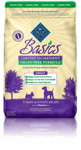 BLUE Basics best limited ingrediends food for dogs