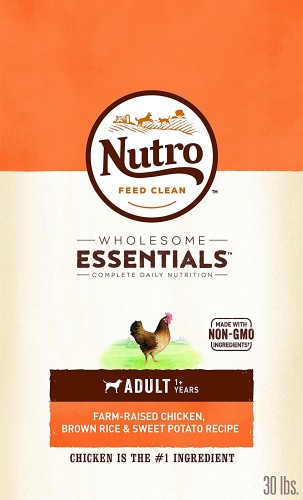 WHOLESOME ESSENTIALS dog food from nutro brand