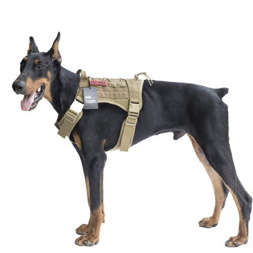 Water-Resistant Comfortable Military Patrol K9 Dog Harness with Handle