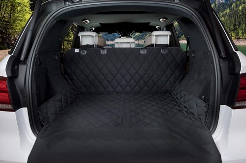 BarksBar Luxury Pet Cargo Cover & Liner For Dogs - 80 x 52 Black