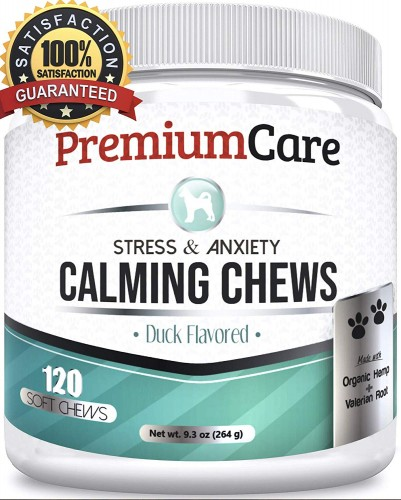 PremiumCare Calming Treats for Dogs   Hemp Oil Infused Soft Chews
