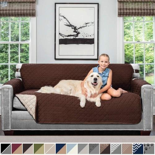 Sofa Shield Original Patent Pending Reversible Sofa Slipcover