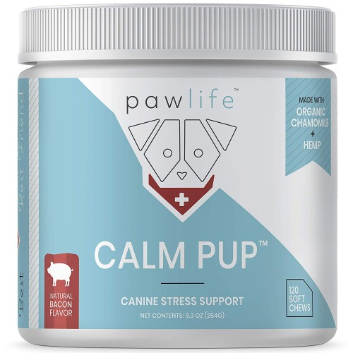 pawlife Calming Treats for Dogs - Hemp Oil Infused Soft Chews