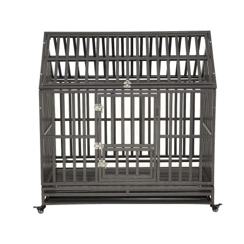 LUCKUP Heavy Duty Dog Cage Strong Metal Kennel