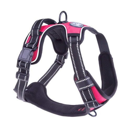 PoyPet No Pull Dog Harness, Reflective Vest Harness with 2 Leash Attachments